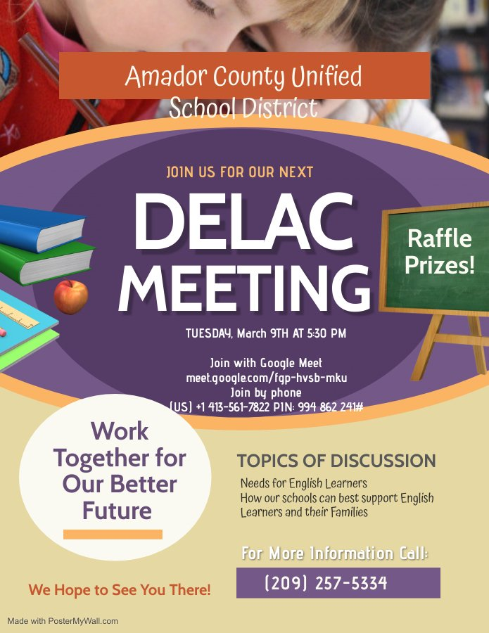 DELAC Parent Meeting Flyer